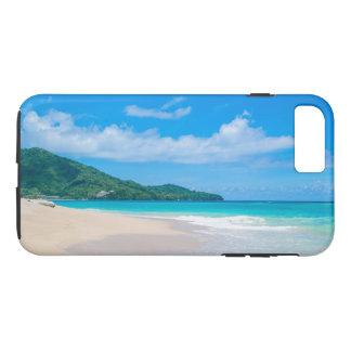 Capa iPhone 8 Plus/7 Plus Praia tropical, água de turquesa, céu azul