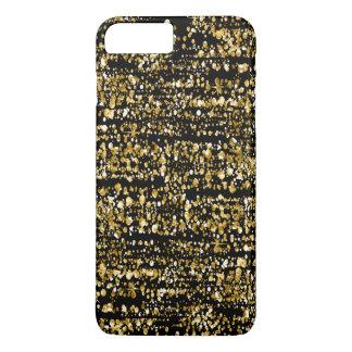Capa iPhone 8 Plus/7 Plus Preto & brilho & Sparkles do falso do ouro