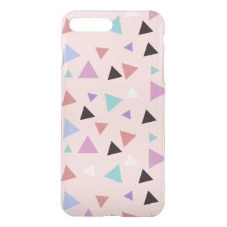 Capa iPhone 8 Plus/7 Plus Preto roxo da hortelã do rosa geométrico elegante