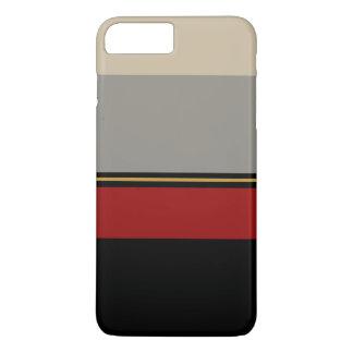 Capa iPhone 8 Plus/7 Plus Preto, vermelho, cinzas e caixa tan