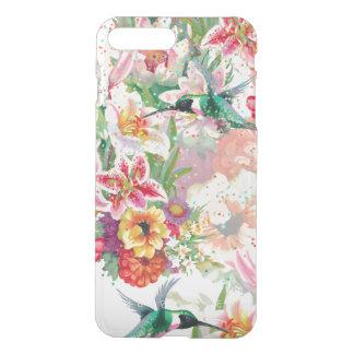 Capa iPhone 8 Plus/7 Plus Primavera floral do colibri mágico do jardim