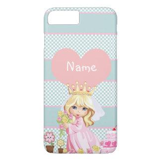 Capa iPhone 8 Plus/7 Plus Princesa bonito Criança - assim kawaii