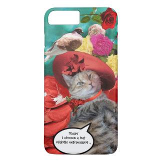 CAPA iPhone 8 PLUS/7 PLUS PRINCESA TATUS DO CAT DA CELEBRIDADE, RED HAT COM