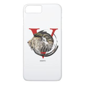 Capa iPhone 8 Plus/7 Plus Projeto majestoso personalizado do leão e da