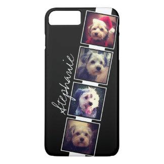 Capa iPhone 8 Plus/7 Plus Quadrados preto e branco da colagem da foto com