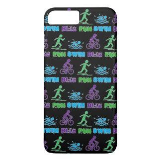 Capa iPhone 8 Plus/7 Plus Raça de Triathlete Ironman do Triathlon do
