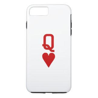 Capa iPhone 8 Plus/7 Plus Rainha do iPhone X/8/7 dos corações mais o caso