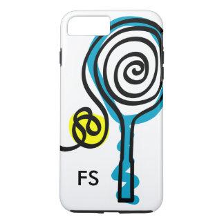Capa iPhone 8 Plus/7 Plus Raquete e bola personalizadas de tênis do