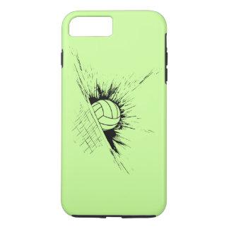 Capa iPhone 8 Plus/7 Plus Rede do Splatter do voleibol