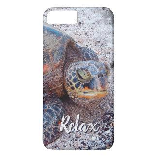 "Capa iPhone 8 Plus/7 Plus ""Relaxe"" a foto do Fim-acima da tartaruga de mar"