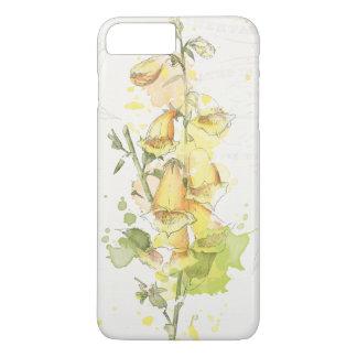 Capa iPhone 8 Plus/7 Plus Respingo amarelo floral