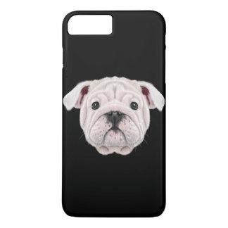Capa iPhone 8 Plus/7 Plus Retrato ilustrado do filhote de cachorro inglês do