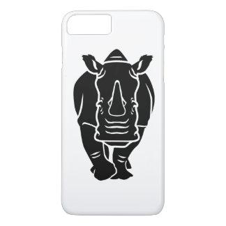 Capa iPhone 8 Plus/7 Plus Rinoceronte preto