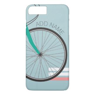 Capa iPhone 8 Plus/7 Plus Roda de bicicleta do hipster com nome feito sob