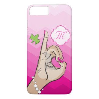 Capa iPhone 8 Plus/7 Plus Rosa e verde da vida do círculo estudantil