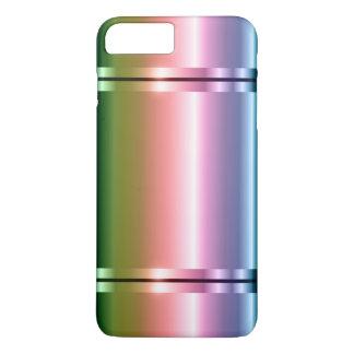 Capa iPhone 8 Plus/7 Plus Roxo brilhante do inclinação do metal do falso ao
