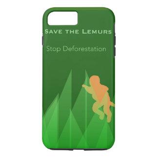 Capa iPhone 8 Plus/7 Plus Salvar os Lemurs