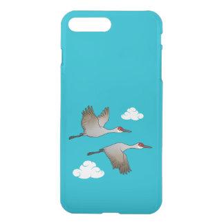 Capa iPhone 8 Plus/7 Plus Sandhill Cranes em vôo