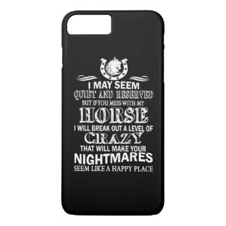 Capa iPhone 8 Plus/7 Plus Se você suja com meu cavalo