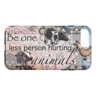 Capa iPhone 8 Plus/7 Plus Seja um menos pessoa que fere animais