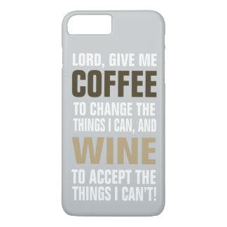 Capa iPhone 8 Plus/7 Plus Senhor Doação Me Café e vinho!