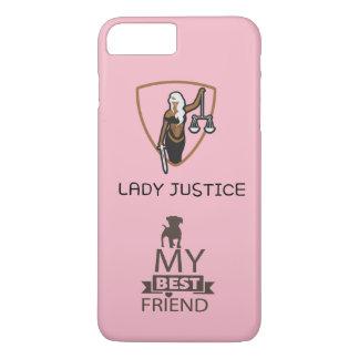 Capa iPhone 8 Plus/7 Plus Senhora Justiça para meu cão