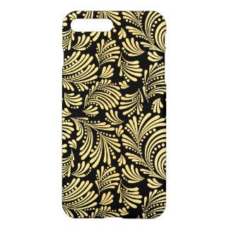 Capa iPhone 8 Plus/7 Plus Senhoras elegantes florais abstratas do preto e do