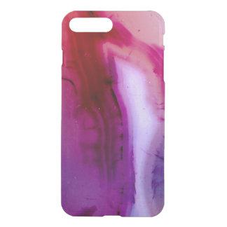 Capa iPhone 8 Plus/7 Plus Série de pedra preciosa - ágata no roxo com