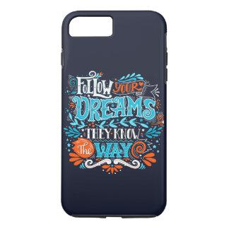 Capa iPhone 8 Plus/7 Plus Siga seus sonhos