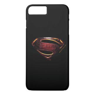 Capa iPhone 8 Plus/7 Plus Símbolo metálico do superman da liga de justiça |