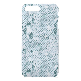 Capa iPhone 8 Plus/7 Plus Snakeskin azul e branco fabuloso