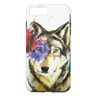 Capa iPhone 8 Plus/7 Plus Splatter do lobo