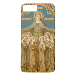 Capa iPhone 8 Plus/7 Plus St. Clare de Assisi & das freiras (SAU 027)