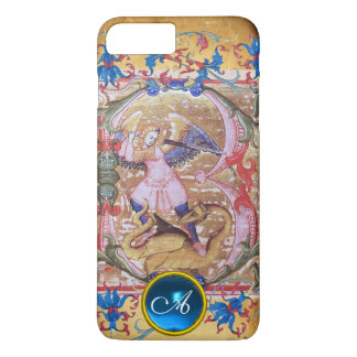 Capa iPhone 8 Plus/7 Plus St Michael a antiguidade do monograma do arcanjo