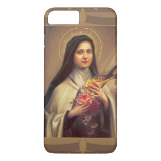 Capa iPhone 8 Plus/7 Plus St. Therese os rosas pequenos da flor w/pink