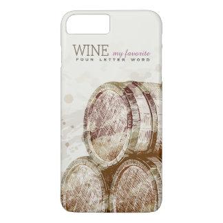 Capa iPhone 8 Plus/7 Plus Tambor de vinho velho clássico do vintage