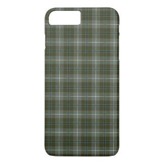 Capa iPhone 8 Plus/7 Plus Tartan resistido do verde de musgo do clã de