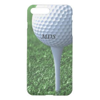 Capa iPhone 8 Plus/7 Plus Teeing fora do monograma da bola de golfe claro