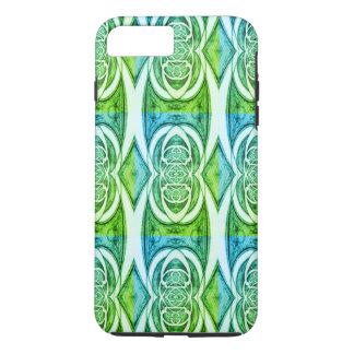 Capa iPhone 8 Plus/7 Plus Teste padrão abstrato verde 2