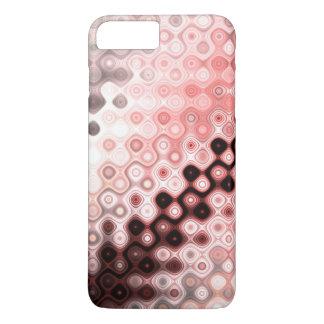 Capa iPhone 8 Plus/7 Plus Teste padrão arredondado colorido das listras