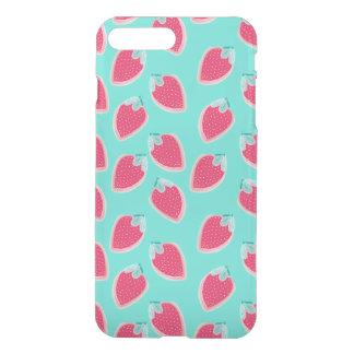 Capa iPhone 8 Plus/7 Plus Teste padrão bonito da fruta da morango