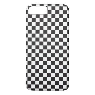 Capa iPhone 8 Plus/7 Plus Teste padrão Checkered retro clássico preto e