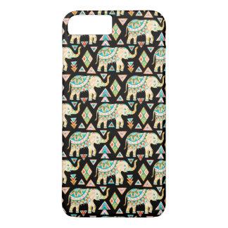 Capa iPhone 8 Plus/7 Plus Teste padrão colorido bonito dos elefantes