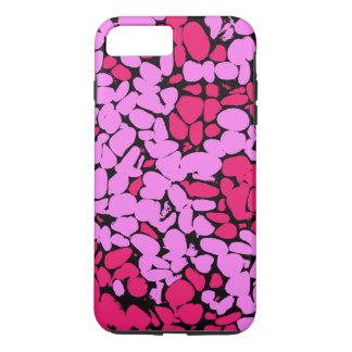 Capa iPhone 8 Plus/7 Plus teste padrão cor-de-rosa