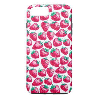 Capa iPhone 8 Plus/7 Plus Teste padrão da morango