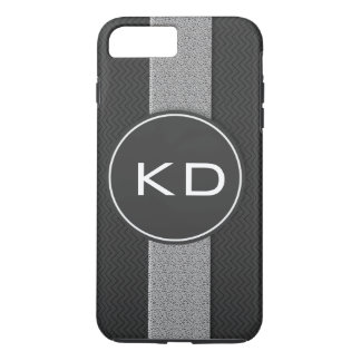 Capa iPhone 8 Plus/7 Plus Teste padrão da textura do monograma
