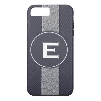 Capa iPhone 8 Plus/7 Plus Teste padrão da textura do monograma ondulado