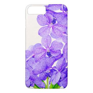 Capa iPhone 8 Plus/7 Plus Teste padrão de flores verde roxo bonito das