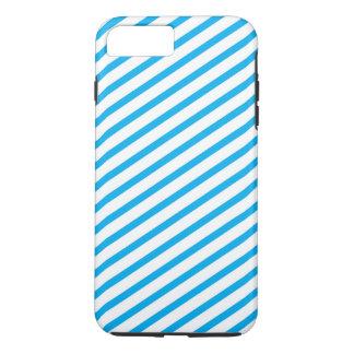 Capa iPhone 8 Plus/7 Plus Teste padrão diagonal do azul da listra