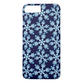 Capa iPhone 8 Plus/7 Plus Teste padrão do art deco do floco de neve